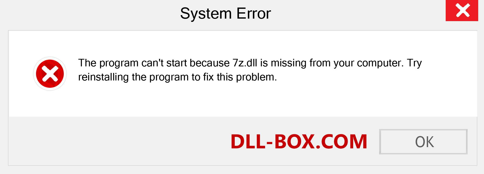 7z.dll file is missing?. Download for Windows 7, 8, 10 - Fix  7z dll Missing Error on Windows, photos, images